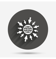 Go to Web icon Globe with mouse cursors vector image