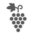 grapes glyph icon fruit and vitamin vine sign vector image vector image