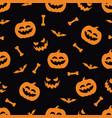 halloween festive seamless pattern vector image vector image