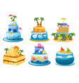 holiday birthday cake vector image vector image