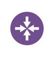 icon arrows inward in color circle vector image vector image