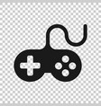 joystick sign icon in transparent style gamepad vector image