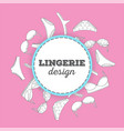 lingerie background vector image