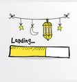loading bar with arabic lanterns moon and star vector image vector image