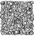 loop spiral concentric circles background vector image