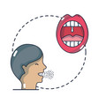 man with sore throat infection symptoms virus vector image vector image