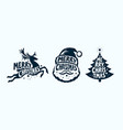 merry christmas label set xmas symbol vector image vector image