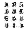 Metal containers icon set vector image