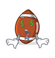 Money eye american football character cartoon