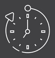 overtime line icon business and clock vector image vector image