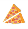 pepperoni pizza on a white background vector image vector image