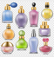 perfume perfumed aroma in glass bottle or vector image