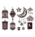 ramada kareem religious symbols in black colors vector image