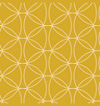 retro gold geometric seamless pattern vector image