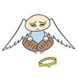 sad angel vector image vector image