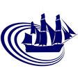 Sailing ship 17 vector image vector image