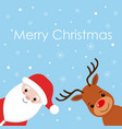 santa cartoon with funny santa claus and red vector image vector image