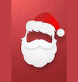 santa claus face with red background vector image