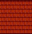 seamless texture background red wooden roof vector image