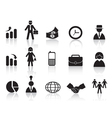 set of business icon vector image vector image