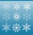 set ornamental snowflakes vector image vector image