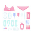 set women s hygiene pads vector image