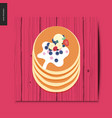 simple things - pancakes vector image vector image