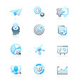 startup business icons - marine series vector image