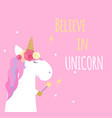 super unicorn background vector image vector image