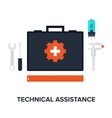 Technical Assistance vector image vector image