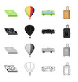 trip travel entertainment and other web icon in vector image vector image