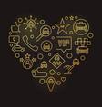 vip taxi heart concept golden outline vector image