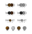 wood and parquet logos vector image vector image