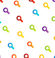 Background with colorful magnifying glasses vector image