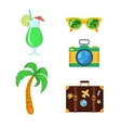 Tourist travel collection vector image