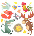 cartoon forest funny animal vector image