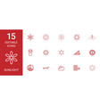15 sunlight icons vector image vector image