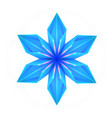 3d of a blue origami snowflake the object is vector image vector image