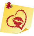 a note about love vector image vector image