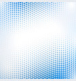 abstract halftone wave in blue vector image vector image