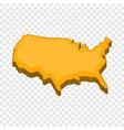 american map icon cartoon style vector image vector image