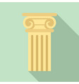 ancient pillar icon flat style vector image vector image