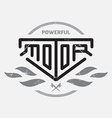 Automotive motorcycle badge with fire and bolts vector image vector image