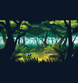 background landscape with deep jungle vector image