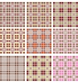Background of retro plaid pattern vector image vector image