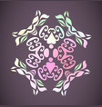 beautiful ornamental flower vintag vector image