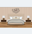 Bedroom Elevation Room with Bed vector image vector image