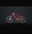 bicycle red on dark vector image vector image
