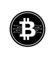 bitcoin icon with micro scheme vector image vector image