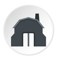 blacksmith workshop building icon circle vector image vector image